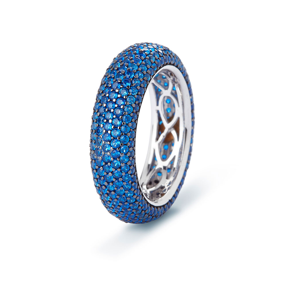 - Anillo Blue Spinel Pave 3