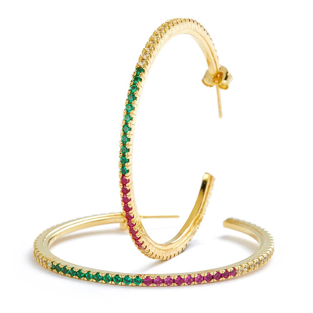 - Pendientes Rainbow Hoops 1 2